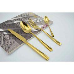 Gold cutlery 6 piece set