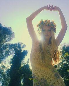 flower crown #bazaarflowers