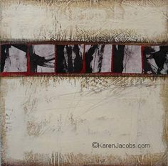bokusho series - KAREN JACOBS  contemporary and abstract paintings