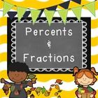 Students will be able to independently complete these percent and fraction review printables.  This product contains three printables covering perc...