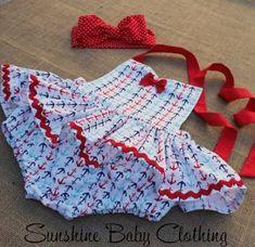 new Ideas knitting patterns baby girl inspiration Baby Outfits, Little Girl Outfits, Little Girl Dresses, Kids Outfits, Vintage Baby Dresses, Girls Dresses, Baby Knitting Patterns, Baby Dress Patterns, Sundress Pattern