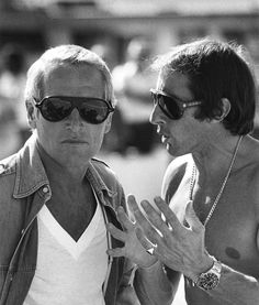 Paul Newman and Jackie Stewart