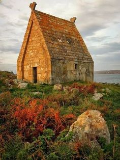 St. MacDara's Church, St. MacDara's Island, off the coast of County Galway, Ireland. Internally, the church measures only 15 feet by 11.
