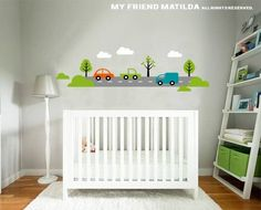 Worldwide shipping! $89 Transport and Cars Wall Decal Sticker M010 Nursery Boys Bedroom — Removable Wall Decals & Stickers by My Friend Matilda