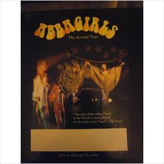 ABBA - AbbaGirls The Arrival Tribute Band Promotional concert poster