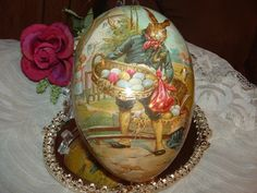 Vintage German Easter Candy Container/Egg