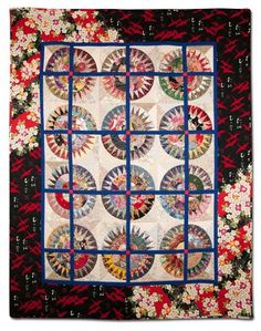 """""""I'll Be Back in the Springtime"""" by Agneta Moller Noe.  Best Machine Quilting award-  Empire Quilters Guild"""