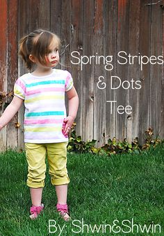 How to make these stripes on a shirt (not making the shirt) - very easy!
