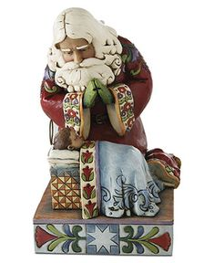Jim Shore Collectible Figurine, Santa with Baby Jesus - Holiday Figurines - Holiday Lane - Macy's
