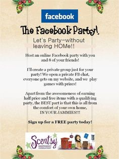 Host a party this month! From your home.....check out my FB page! https://www.facebook.com/snotz02