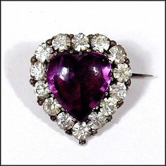 Heart of Purple Secrets - Georgian Paste Brooch - available from OH.   http://www.rubylane.com/item/386639-RL-322/Heart-Purple-Secrets-Georgian-Paste