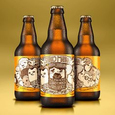 #label #beer #package #mango #design #illustration #vector #characters #gift #promo