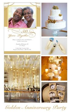 Golden Anniversary Party Inspiration