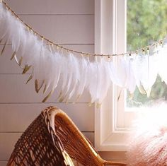 Our Feather Garlands are just the perfect finishing touch in your nursery.  Goose Feathers, Pheasant Feathers, Feather Garland, Childrens Beds, Garlands, Art Ideas, Nursery, Touch, Etsy