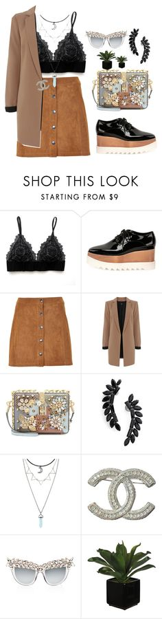 """""""coooool"""" by remooooo ❤ liked on Polyvore featuring STELLA McCARTNEY, Soaked in Luxury, Oasis, Dolce&Gabbana, Cristabelle, Chanel and Anna-Karin Karlsson"""