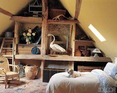 Pictures of Attic Rooms - ELLE DECOR
