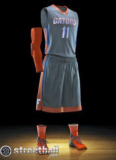 Cool nike uniforms | Florida Basketball Uniform Nike Hyper Elite Platinum - Streetball