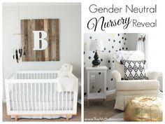 Gender Neutral Nursery | TheMcBaileys.com | Black Gold and White Nursery | monochromatic nursery | black and gold nursery