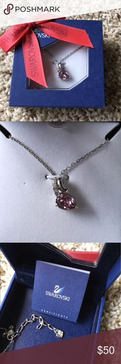 Swarovski necklace Never worn but box does show some fading/wear from being moved around. Swarovski Jewelry Necklaces