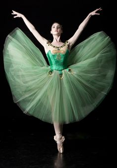 "Ballet West demi-soloist Emily Adams in George Balanchine's ""Emeralds."" Photo by Erik Ostling."