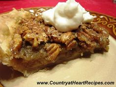 Country at Heart Recipes: Golden Pecan Pie