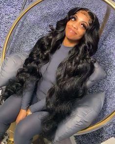 Slick Hairstyles, Baddie Hairstyles, Black Girls Hairstyles, Loose Hairstyles, Pretty Hairstyles, Hairstyle Ideas, Curly Hair Styles, Natural Hair Styles, Curls For The Girls