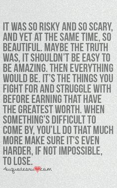 maybe it shouldn't be easy to be amazing.