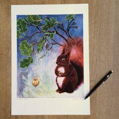 Art Print: A Fuzzy Feeling by ArtLisbethThygesen on Etsy