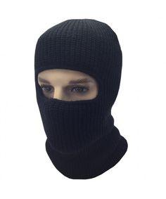 d2faecf679b Mens Black Knit Thermal Face Ski Mask 1 Hole CW12O1848AP. Hats ...