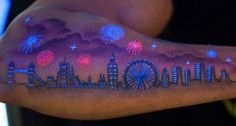 Black light tattoos or glow in the dark tattoos is a part of a new growing trend in the body art world. These tattoos are created by using ultraviolet (UV) reactive ink. Because these tattoos are created with such ink, they're tattoos are nearly invisible in the daytime and can only be seen underneath a black light. UV tattoos can be used in different ways - some could get an entire tattoo that's only visible when underneath the ultraviolet bulb, others could use the UV ink to highlig...