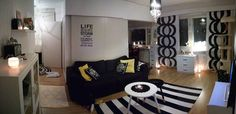 Modern apartment with traditional patterns from Finnish designers (Marimekko)