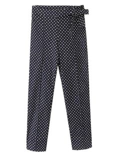 Polka Dot Pants with Bow Belt | Choies