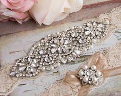 Wedding Garter Set Champagne Bridal Garter Set Champagne
