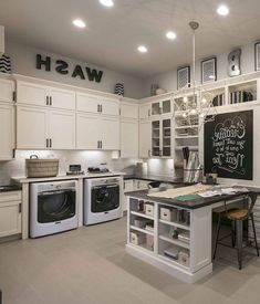 68 Stunning DIY Laundry Room Storage Shelves Ideas Page 52 of 70 Laundry Craft Rooms, Mudroom Laundry Room, Large Laundry Rooms, Laundry Room Design, Small Laundry, Mud Rooms, Laundry Room Island, Laundry Room Shelves, Laundry Room Organization