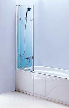 Tub Screen LineaAqua Baja 48 X 55 Frameless Bath Tub Enclosure Bath Tub  Glass Screen With 3 Panel Folding Swing Door Part 58