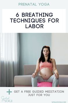Breathing techniques for labor are one of the most effective ways of handling pain and discomfort associated with child birth. The emphasis on mindful breathing or pranayama in prenatal yoga is one of the reasons it's such a great way to prepare your body and mind for child birth. These 6 breathing techniques will help you stay calmer, more grounded, and more present for the birth of your baby.   #prenatalyoga #pregnancyyoga #naturalbirth Breathing Techniques For Labor, Meditation Techniques, Mindful Parenting, Parenting Advice, Mom And Baby Yoga, Free Guided Meditation, Baby Workout, Learn Yoga, Childbirth Education
