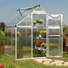Poly-Tex Nature 6' x 8' Greenhouse by Poly-Tex. Save 12 Off!. $579.99. Includes galvanized base kit. Strong, bolt-together aluminum frame. Adjustable Ventilation. The Nature 6' x 8' Silver Hobby Greenhouse has a strong bolt together aluminum framework, 4mm twin wall polycarboante panels, swinging front door, rain gutter, one roof vent and a galvanized steel base kit.