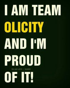 #Olicity @Anna Totten Totten Buller we should make a shirt out of this for comic-con!!!!