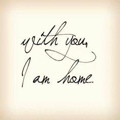 Home, finally home.