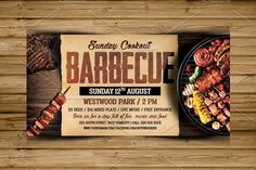 Barbecue Bbq Flyer Template by Hotpin on @creativemarket