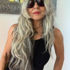 Instagram Long I, Going Gray, Layered Cuts, Female Images, My Hair, Feminine, Long Hair Styles, Sexy, Beauty