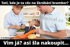 Tati, kde je ta věc na škrábání brambor? Jokes Quotes, Memes, Just For Laughs, Funny Moments, Haha, Funny Pictures, Photos, Proverbs Quotes, Funny Jokes