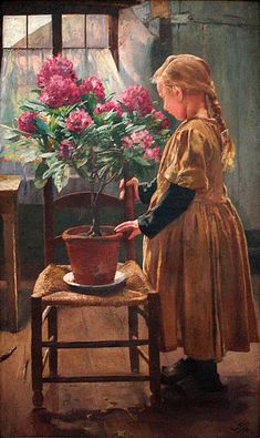 Léon Frédéric (1856-1940):  'Rhododendron in Bloom', 1907