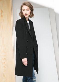 Double-breasted coat - Coats for Women | MANGO