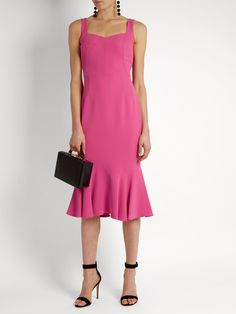 Click here to buy Dolce & Gabbana Sweetheart-neck cady midi dress at MATCHESFASHION.COM