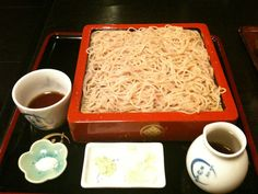Seasonal soba.  With brined cherry blossoms.  Limited for a few days in spring.