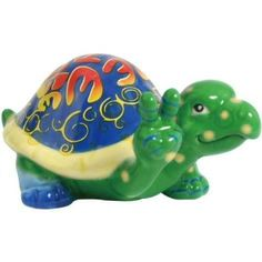 "Amazon.com: 2.25 inch Multicolor ""Bee the Change"" Turtle Collectible Figurine: Home & Kitchen"