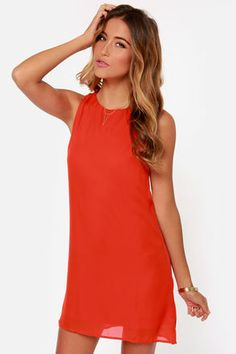 Twist Connections Red Shift Dress