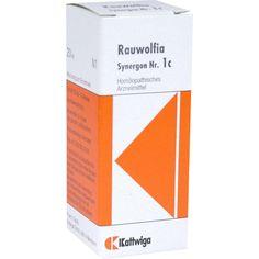 SYNERGON 1 c Rauwolfia Tropfen:   Packungsinhalt: 20 ml Tropfen PZN: 00997513 Hersteller: Kattwiga Arzneimittel GmbH Preis: 4,28 EUR…