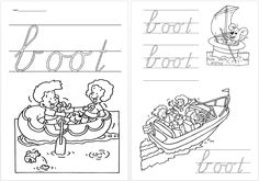 Schrijfblad VVL Kim versie kern 2 boot Daily Five, Speech And Language, Classroom, Letters, School, Writing Fonts, Occupational Therapist, Class Room, Language